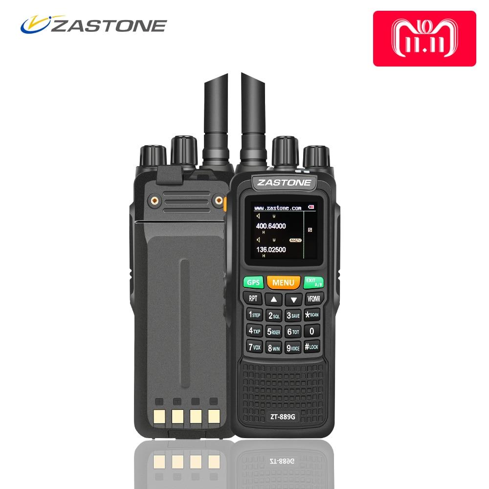 Zastone 889g GPS Talkie Walkie 10 w 999CH 3000 mah UHF 400-520/VHF134-174MHz Jambon CB Radio HF Émetteur-Récepteur pour Explorer Chasse