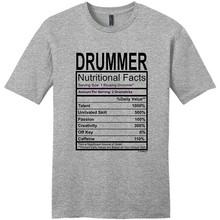 ee35d64ae Gildan Men's t-shirt Drummer Gift Nutritional Facts Gag Gifts Funny Young Mens  T-