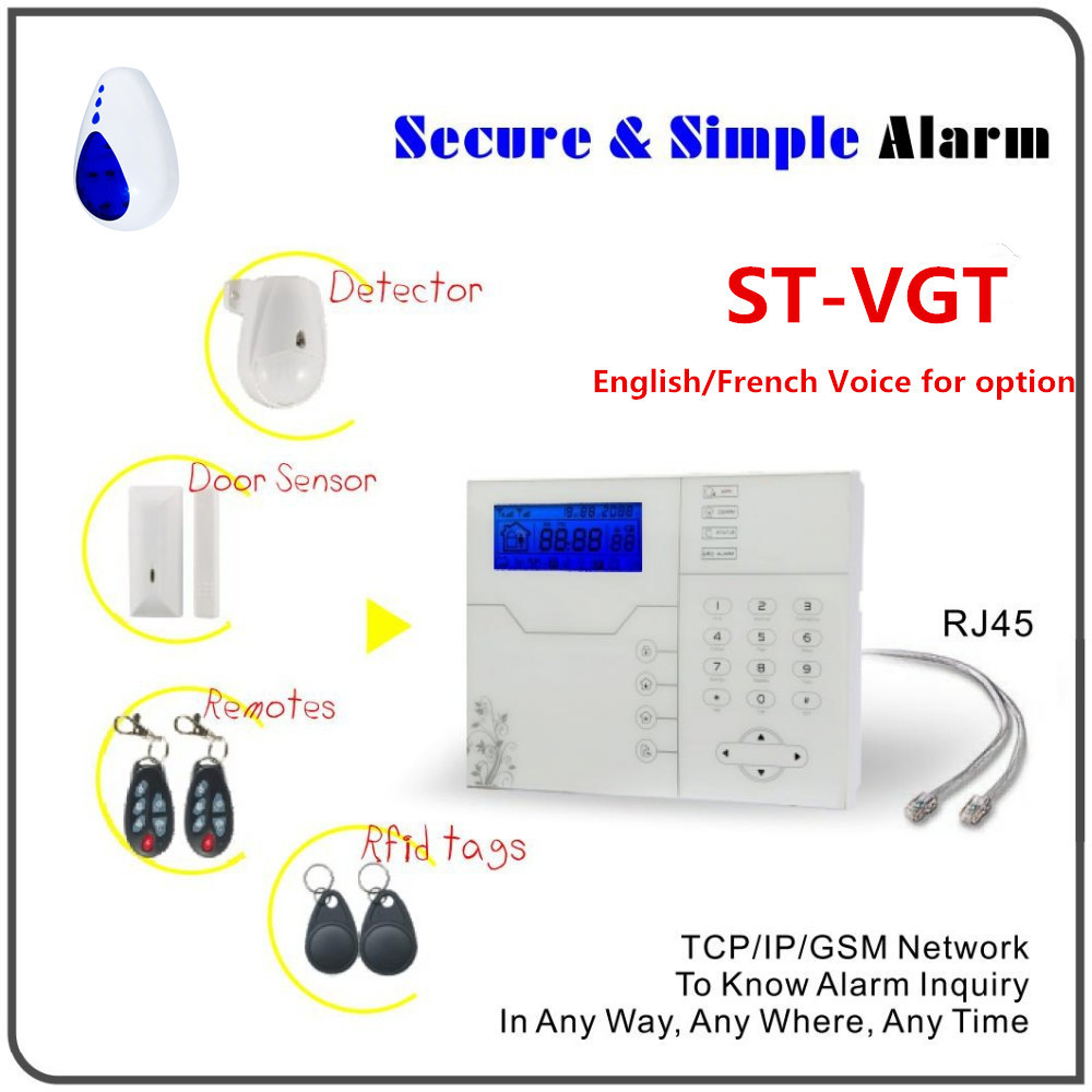 Factory Price French Voice Prompt Alarm Wireless TCP IP RJ45 Ethernet Alarm GSM SMS Home Security Alarm System With App Control most advanced wireless network tcp ip alarm system sms gsm alarm smart home alarm system with webie and app control