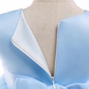 Image 5 - 2020 חדש סגנון תחרה ילדה מסיבת שמלות אלגנטי אפליקציות פרח ילדה נסיכת שמלת ילדה קיץ ילדה שמלת 3 8 שנה L5029