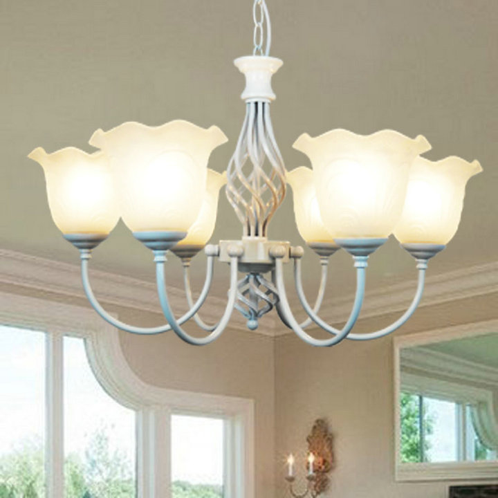 Multiple Chandelier American  bedroom lamp retro minimalist Pastoral living room 3/5/6heads atmosphere hotel bar restaurant ZAG korean princess wrought lamp iron bedroom led lamp american pastoral style living room children chandelier