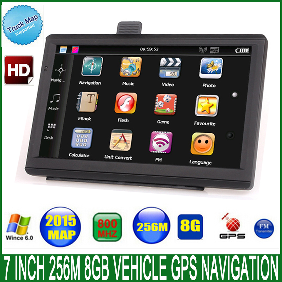 7 Spain Car truck vehicle font b GPS b font NavigatIon navigator 800Mhz FM DDR3 256M