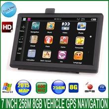 "7 ""España Car truck vehicle Gps navigator 800 Mhz DDR3 256 M 8 GB CE6.0 FM navitel/español/reino unido/Europa/EE.UU./español/Francia"