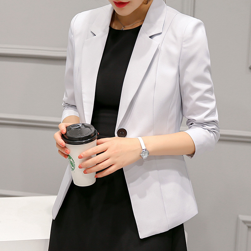 Autumn Women Blazers And Jackets Candy Color Jacket Long Sleeve Slim Suit One Button Women Jacket big Size S-2XL Blazer