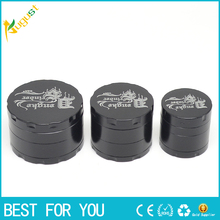 4 Layers Alloy grinder Metal Tobacco Crusher Hand Muller Smoke Herbal Herb Grinder as a tube or tobacco pipe smoke accessory
