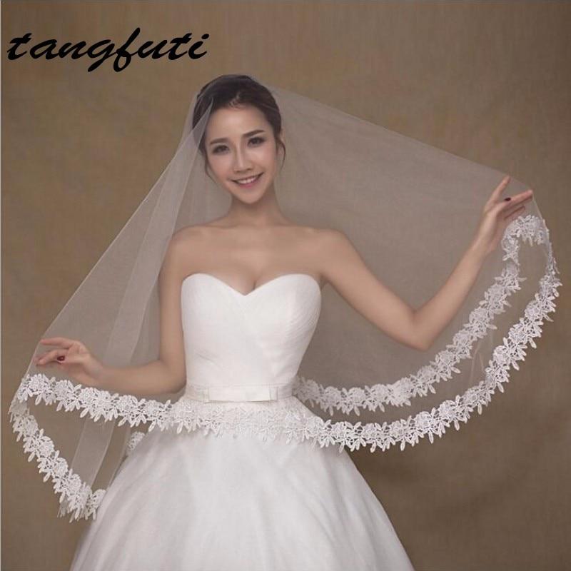 Дешевые 1,5 м слоновой кости свадебная фата фата для невесты вело-де-новия вуаль mariage ZHG20