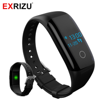 EXRIZU X11 Heart Rate Monitor Smart Band Health Bracelet IP68 Waterproof Wristband for Sports Bicycle Camping Hiking Pedometer