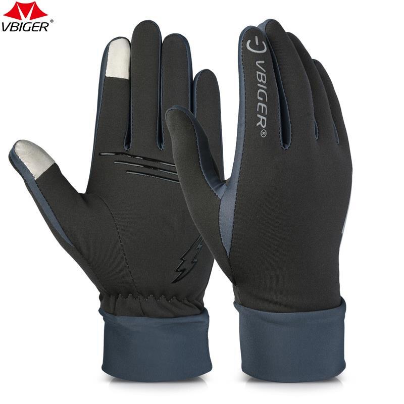 Vbiger correr al aire libre senderismo guantes pantalla táctil resistente al desgaste antideslizante guantes de ciclismo deportes de mitones, guantes para hombres las mujeres