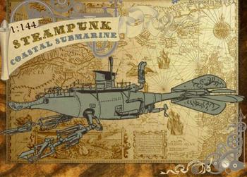 1:144 Steampunk Submarine (Precision resin + PE + Decal + Metal parts)