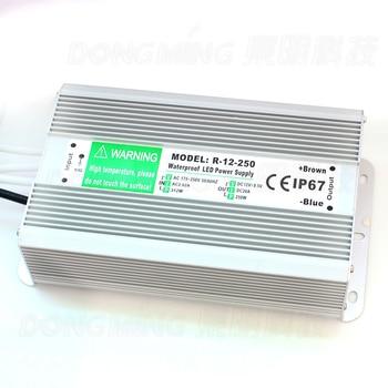 Ip67 Wasserdichte Led-treiber 12 V 250 Watt 20A Schaltnetzteil Im Freien Mit Beleuchtung Transformator AC 175-265 V Zu DC 12 V