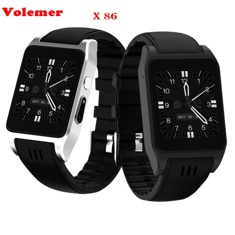 Volemer X86 Relogio Celular Bluetooth Montre Smart Watch Android Smartwatch Relogio avec 2.0 M Support de Caméra Carte Sim pour HUAWEI Redmi