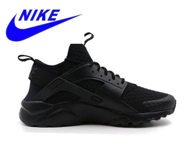 Original New Arrival Official Nike Air Huarache Run Ultra Men's Black Red Running Shoes Sneakers 753889-994 40-44.5