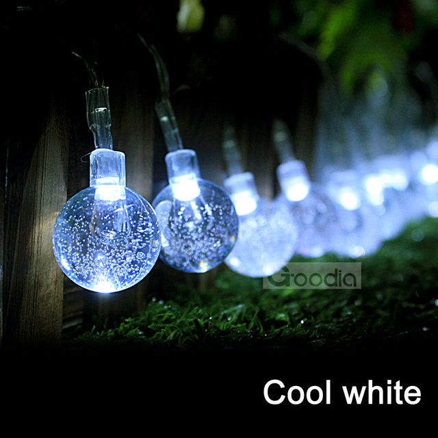 AA Battery cool white Christmas Lights 175 Inches 40 LED Light String  Crystal Ball Fairy String - AA Battery Cool White Christmas Lights 175 Inches 40 LED Light