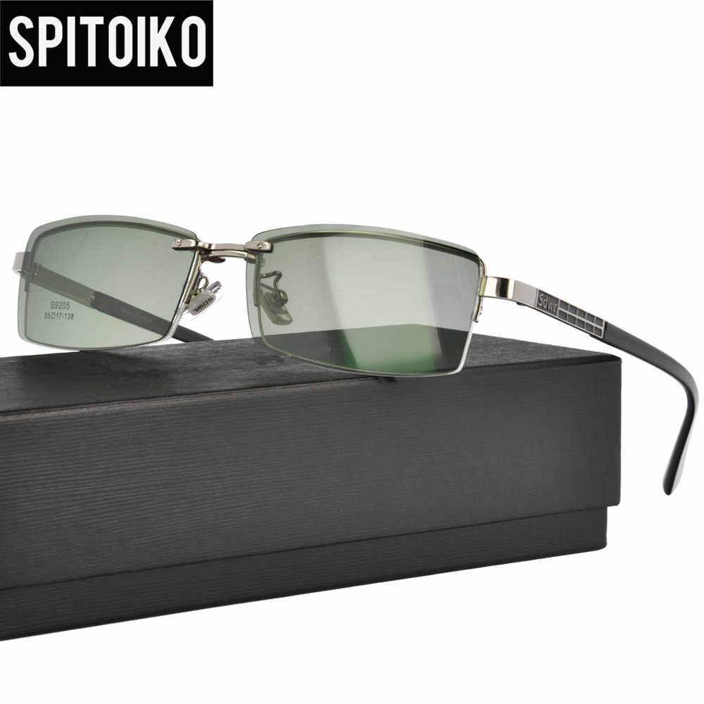 53c83e1549c Polarized Sunglasses Men Clip On Optical Glasses Anti-Glare Eyelasses  Driving Myopia Magnet Eyewear Frame