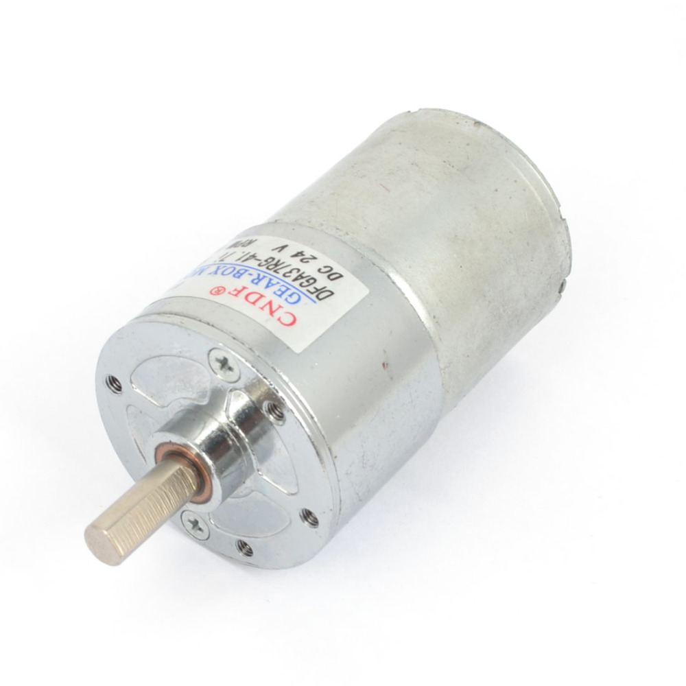Uxcell Newest 1 Pcs Speed High Torque Gear Box Electric Motor DC 24V 100RPM for Robot цена