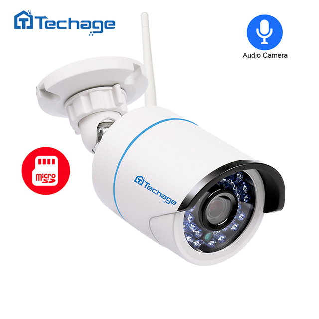 Techage 720P 960P 1080P Wireless IP Camera 2.0MP Wifi Security Audio Record Camera Outdoor Waterproof Onvif with SD TF Card Slot