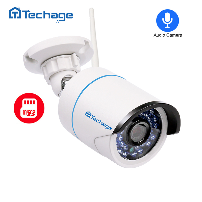Techage 720P 960P 1080P Wireless Wifi Camera Home Security Audio Record IP Camera Outdoor Waterproof Onvif with SD TF Card Slot marviotek ip camera wifi 960p 720p onvif waterproof wireless wired p2p cctv bullet outdoor camera with audio tf card slot