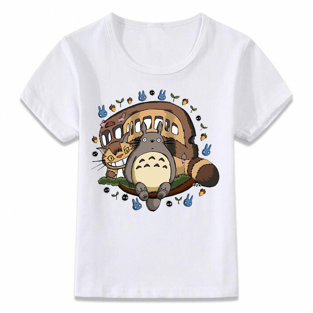 Kids Clothes T Shirt My Neighbor Totoro Catbus Children T-shirt For Boys And Girls Toddler Shirts Tee Oal158