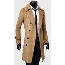 ZOGAA 2018 Uomini di Inverno di Modo di Stile Britannico Trench e  Impermeabili Cappotto Lungo Slim a1b5589c4c4