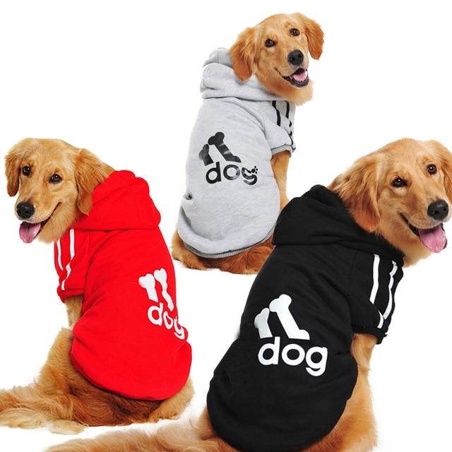 Plus Size Large Dog Clothes Winter Warm Pet Dog Coat Jacket Big Dog Clothing Sports Hoodies for Pitbull Bulldog Golden Retriever