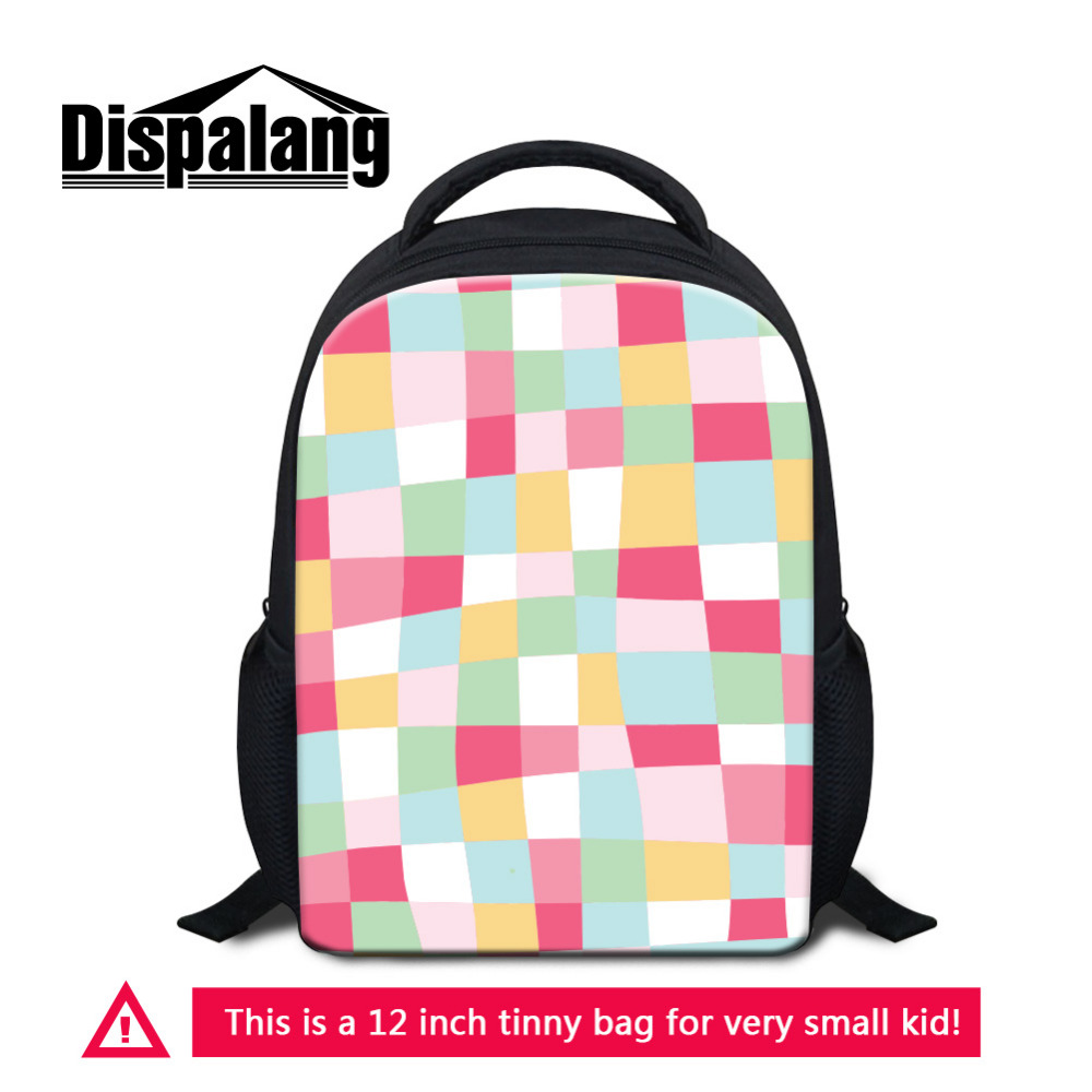 Dispalang Cute Plaid Print Small School Bags For Girls Pink Schoolbag Student Kids Kindergarten Bookbags Children Mini Mochila