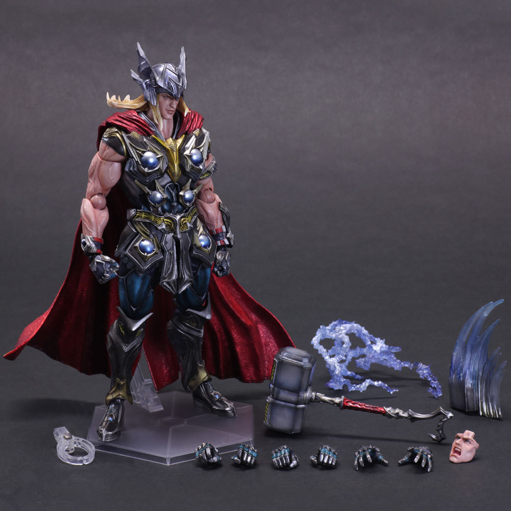 Thor Action Figure Playarts Kai Anime Toy Movie Thor Collection Model Toy Play Arts Kai Figures 270mm devil may cry 3 action figure toys playarts kai anime toy movie dante play arts kai 25cm collection model