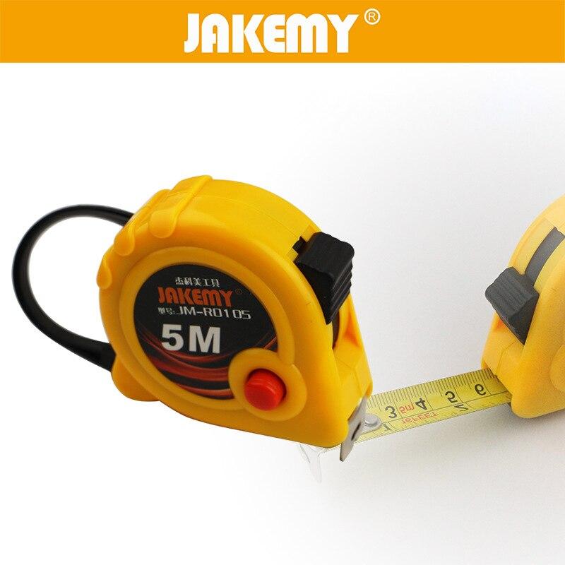 JAKEMY 1pc 3m/5m Measuring Tape Steel Tape Multitool Ruler Steel Measure Tape Metric Woodworking Hand Measure Tools