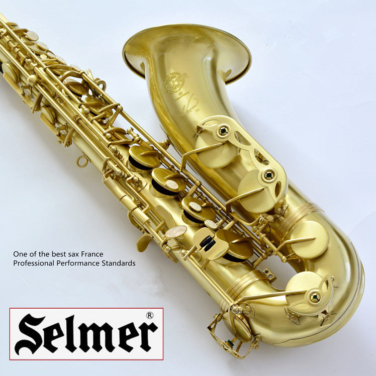 цены Free shipping France Selmer Tenor Saxophone R54 Professional B Brushed Antique Copper Bronze Sax mouthpiece Case Accessories