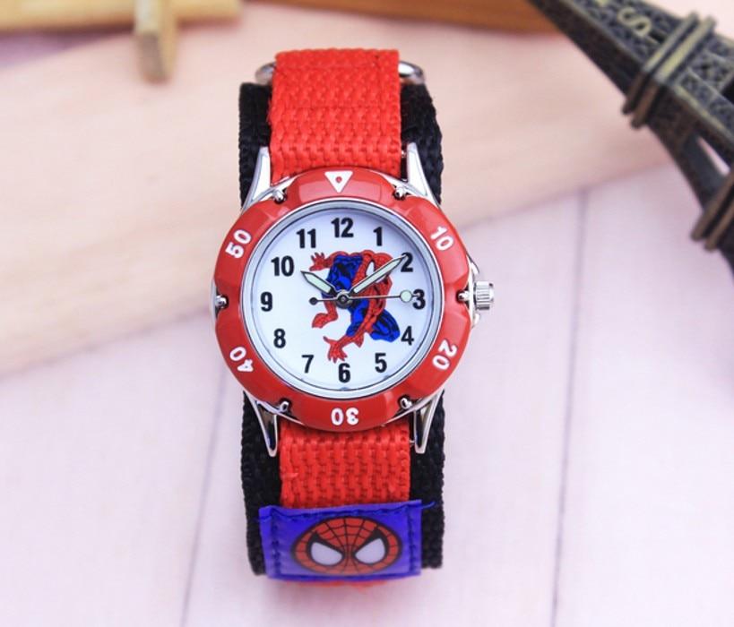 Spiderman Cartoon Watch Fashion Children Boys Kids Students Spider-Man Nylon Sports Watches Analog Wristwatch Relogio