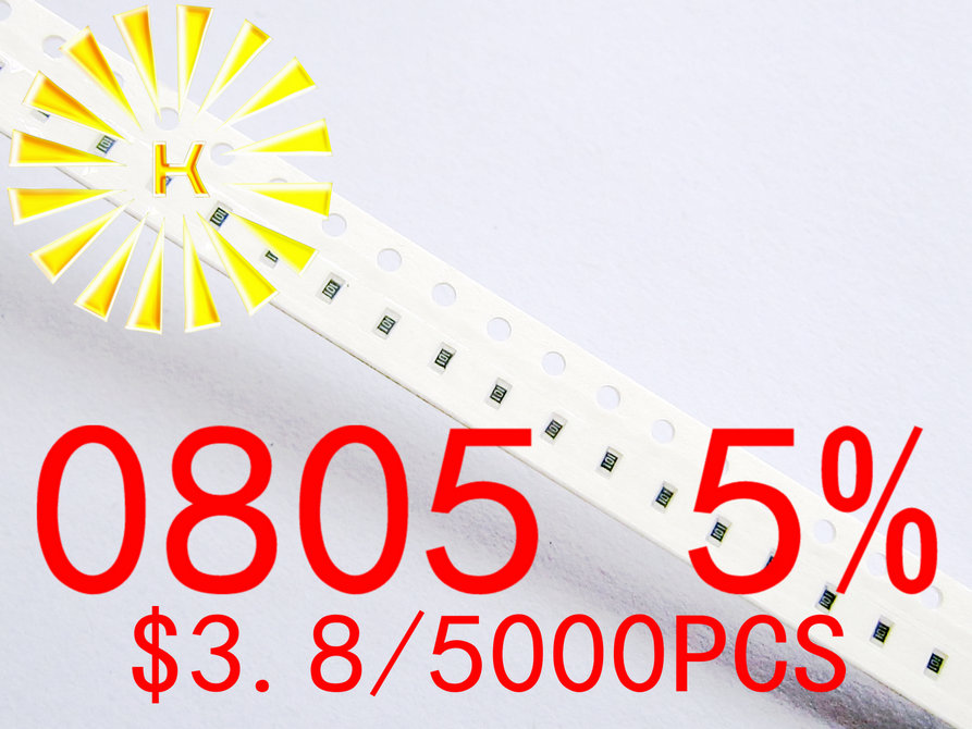 0805 5 Chip Resistors 0 01 0 091R 0 1 0 91R 0R 1R 10M 1 8W SMD Resistor x 5000PCS in Resistors from Electronic Components Supplies