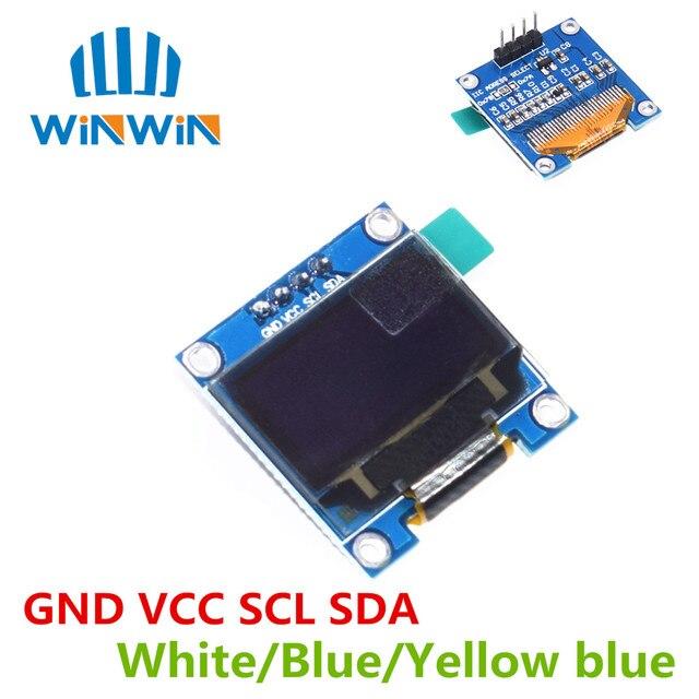 "1pcs 0.96"" white/blue/yellow blue 0.96 inch OLED module 128X64 OLED LCD LED Display Module 0.96""  IIC I2C 0.96 oled  For ARDUINO"