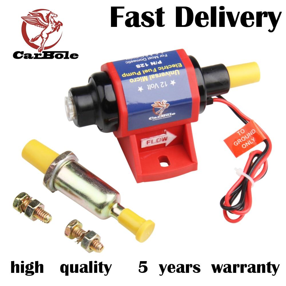CARBOLE 4-7 PSI Nové vysoce výkonné elektrické palivové čerpadlo pro použití s karburátorem 35 GPH
