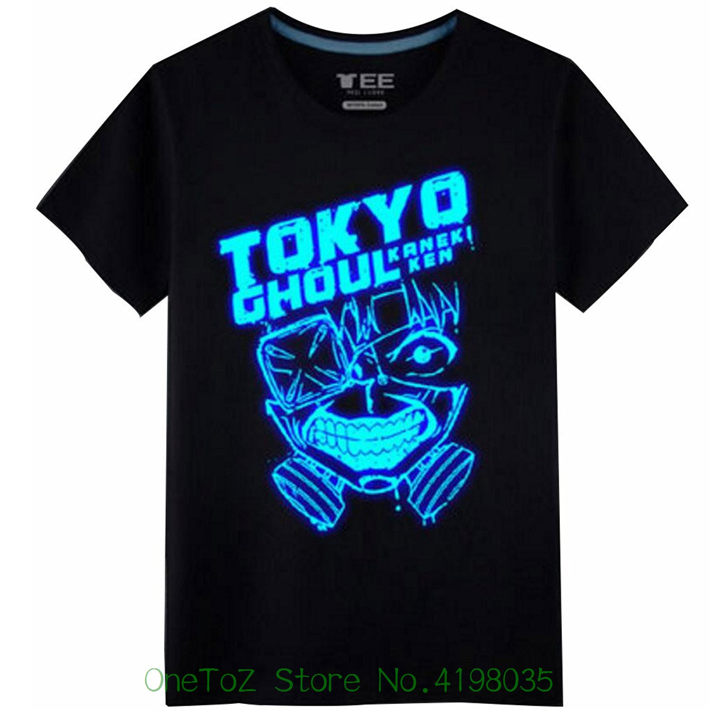Anime Tokyo Ghoul 2 Kaneki Ken Cosplay Costume Tshirt Print Tshirt Summer Short
