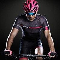 רזי רכיבה על אופניים בקיץ Santic גברים כושר פרו אפור SANTIC N-FEEL נוגד החלקה M7C02107G שרוול שרוול