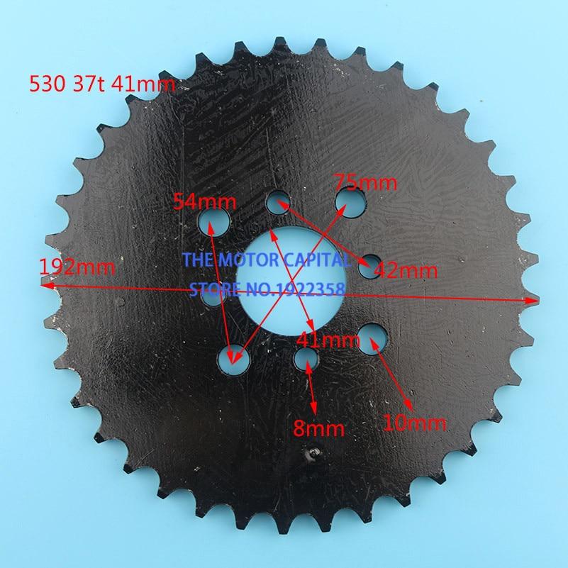 high performance 530 37 dente 41mm placa cadeia roda dentada de engrenagem da roda traseira fit