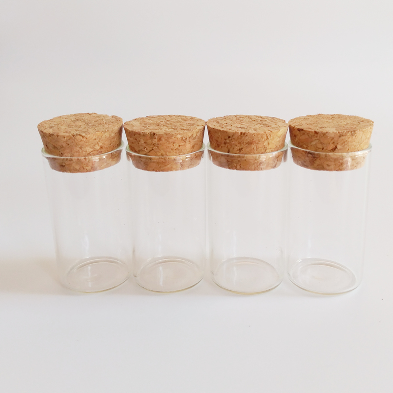 30pcs lot Corked glass bottle 15ml empty small test tube with cork stopper 27 50mm tiny Decorative glass jars for flowers in Bottles Jars Boxes from Home Garden