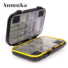 Anmuka Fishing Fackle Free Shipping Fishing  Boxes Small Clear Plastic Waterproof Hooks Lures Baits Box Fishing Accessories