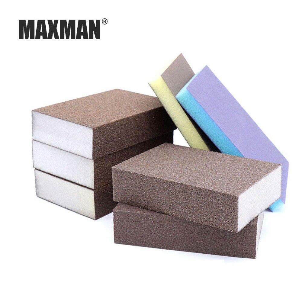 MAXMAN Sanding Sponge Woodworking Polishing Elastic Grinding Block High-density Sanding Tool Grinding Fixture Sandpaper