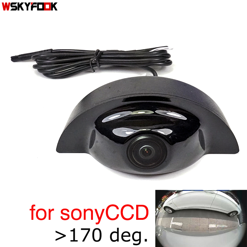 180deg CCD HD Car Front Brand Logo Camera For Volvo XC60 2019 Front Logo Auto Camera Front View Positive Camera Wide Angle