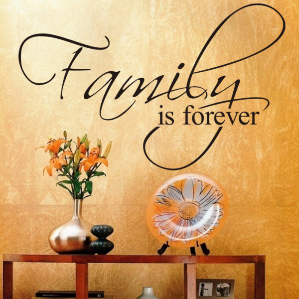 Family Is Forever Removable Vinyl Wall Decal Quote Home Decor - Removable vinyl wall decals for home decor