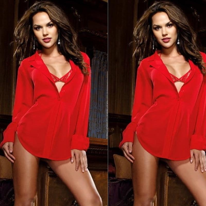Lurehooker Women Sexy Lingerie Nightgown Exotic Apparel Baby Dolls Solid Sleepwear Plus Size Underwear Dress Bar T Thong 4