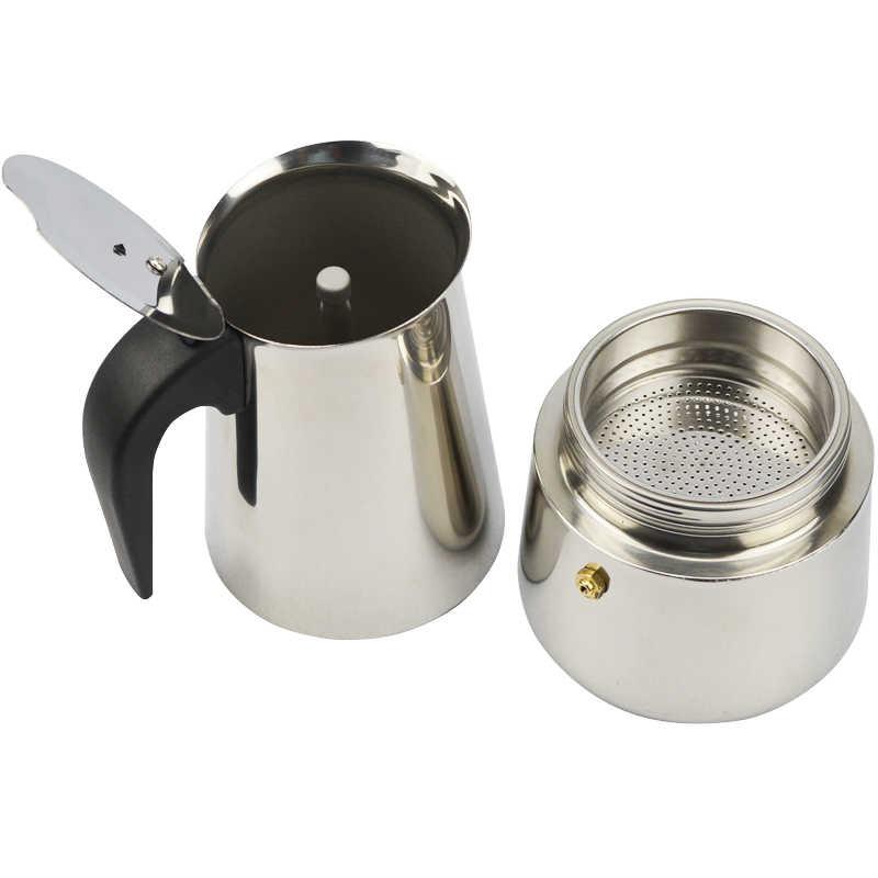 Recentes 2 ATWFS/4/6/9 Xícaras Moka Pot Caffe Latte Xícaras de Café Expresso Máquina de café Coador fogão Moka Máquina De Café