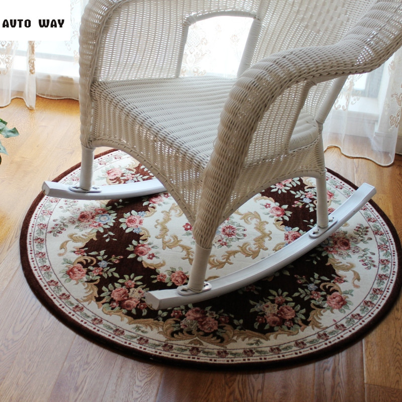 European round mat computer chair carpet hanging basket mat Rocking chair carpet Bedroom bedside rug free shipping