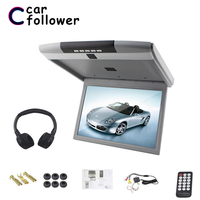 17.3 Inch Ceiling TV HD 1080P Flip Down Car Monitor Roof MP5 Player With IR/FM Transmitter/USB/SD/HDMI/Speaker/Microphone