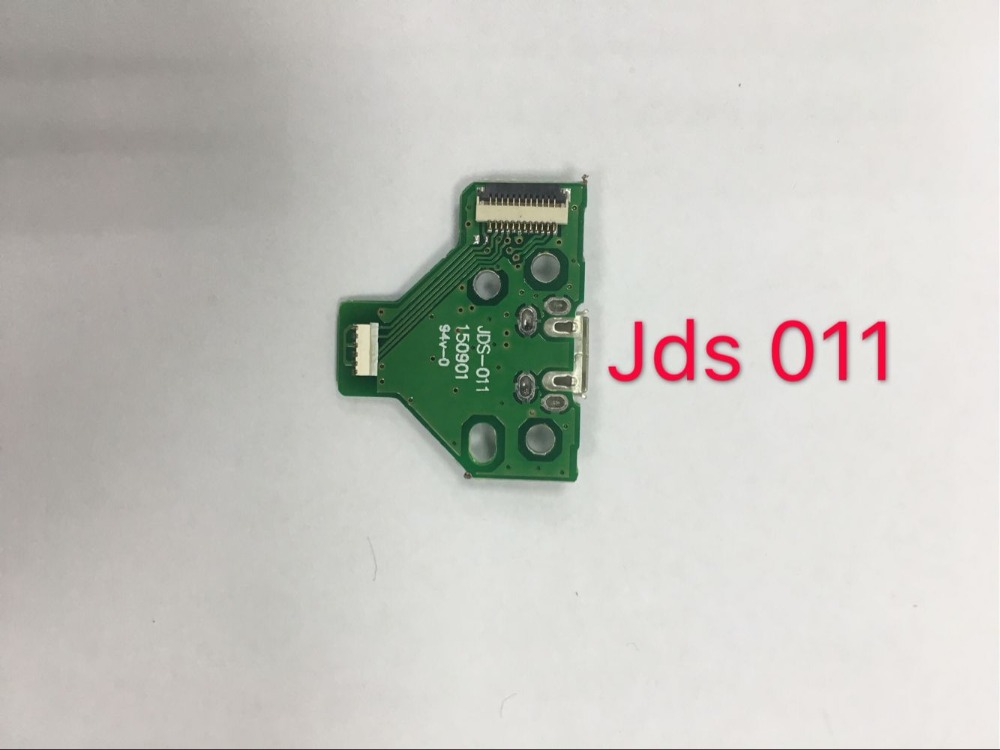 100pcs lot USB Charging Port Socket with board jds 011 green 12pin For PS4 Dulshock controller