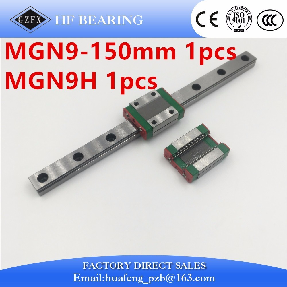 Kossel Mini MGN9 9mm miniature linear guide MGN9 150mm linear rail way + MGN9C or MGN9H Long linear carriage for CNC X Y Z Axis alice mapenzi kubo the abolition of school fees in africa