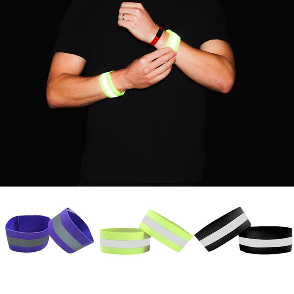 Running Running Arm Warmers Responsible New 40cm Reflective Strap Bracelet Wrist Ankle Arm Band Riding Green Night Light Safety For Walking Running Riding