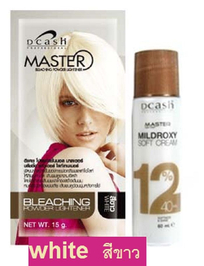 White Hair Bleaching Dye Color Plantinum Lightener Lightening Powder