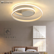 Wooights Modern Chandelier Lighting for Living Bedroom room home decor Lampara de techo White/Black Round Ceiling