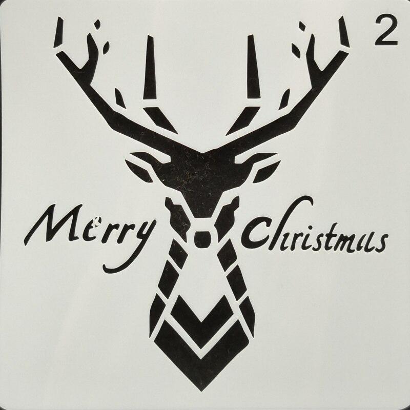 13*13 Christmas deer Layering Stencils for Diy scrapbook ...